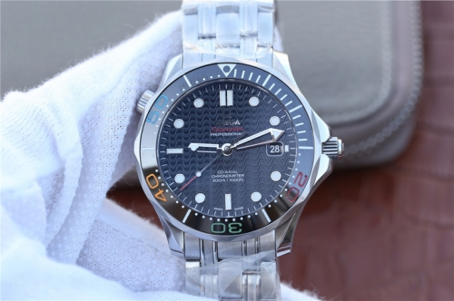 Omega Seamaster Diver 300M Olympic Games Rio 2016 522.30.41.20.01.001 JH Stainless Steel Black Dial Swiss 2824-2