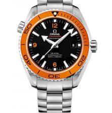 Omega Seamaster Planet Ocean 232.30.46.21.01.002 600m 45.5mm Case Orange Bezel OM Factory V3 Black Dial Orange Marker 8501