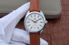 Omega Seamaster Aqua Terra 220.12.41.21.02.001 150M Master Chronometer 41mm Baselworld XF Dial on Brown Leather Strap 8900
