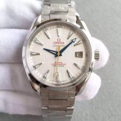 Omega Seamaster Aqua Terra 150M Master Golf Edition 231.10.42.21.02.004 VS Stainless Steel White Dial Swiss 8500