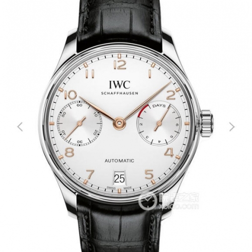 IWC Schaffhausen Portuguese Real PR IW500107 Stainless Steel Case ZF V4 1:1 Best Edition on Black Leather Strap 52010