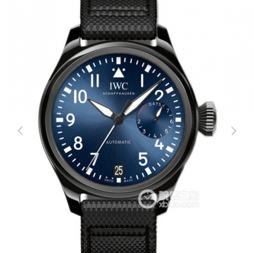 "IWC SchaffhausenBig Pilot Real IW502003 Real Ceramic ""Boutique Rodeo Drive"" ZF V2 1:1 Best Edition Black Calfskin Strap 51111"