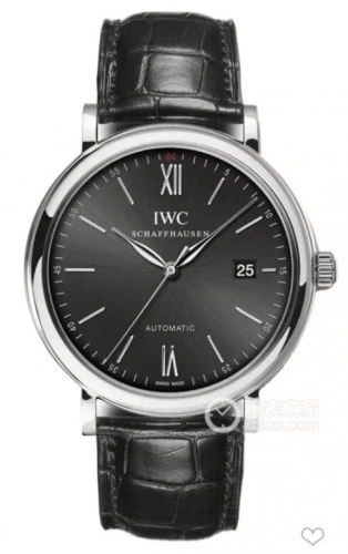 IWC Schaffhausen Portofino IW356502 Automatic Stainless Steel Black Dial MKF 1:1 Best Edition on Black Leather Strap 2892