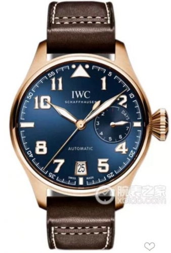 IWC Schaffhausen Big Pilot Real PR 2016 IW500909 Rosegold ZF Best Edition Blue Dial on Brown Leather Strap Swiss 51111