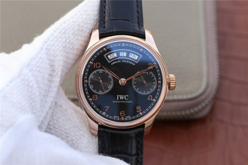 IWC Schaffhausen Big Pilot IW502701 Le Petit Prince Rosegold Real Working Annual Calendar YLF  Blue Dial on Brown Leather Strap 52850