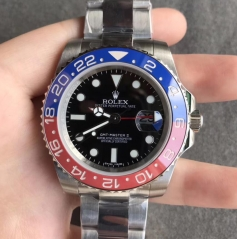 Replica Rolex GMT-Master II 116719BLRO DJ Stainless Steel Black Dial Swiss 2836