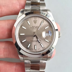 Rolex DateJust II 116300 41mm EW Factory 1:1 Stainless Steel Case Smooth Smooth Dial On Stainless Steel Bracelet Swiss 3136