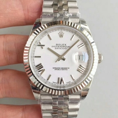 Rolex Datejust II 126334 41MM 2018 EW Factory  Stainless Steel White Rome Dial Swiss 3235