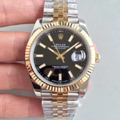Rolex Datejust 41 126333 41MM NOOB Factory  Stainless Steel & Yellow Gold Black Dial Swiss 3235