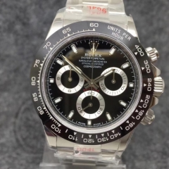 Rolex Daytona Cosmograph 116500 904L Stainless Steel Case Black Ceramic Bezel Noob 1:1 Best Edition Black Dial on SS Bracelet Swiss 4130