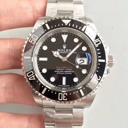 Rolex Sea-Dweller 126600 43mm Baselworld 50th Sea-Dweller Anniversary Black Ceramic Noob Best Edition Stainless Bracelet Swiss 2836