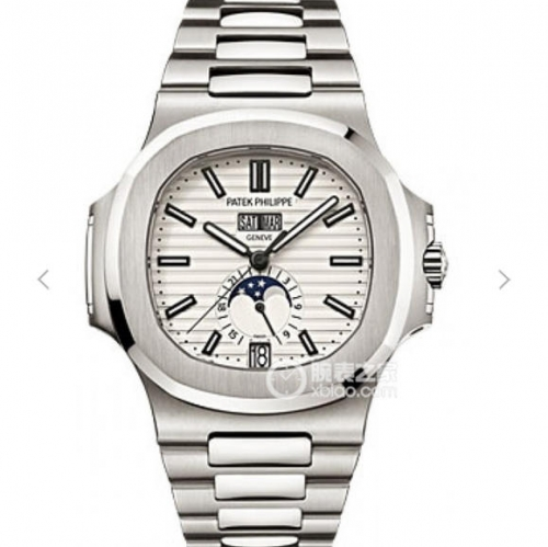 Patek Philippe Nautilus 5726/1A-010 NOOB  Stainless Steel White Dial Swiss 324 S QA LU 24H/303