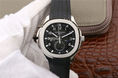 Patek Philippe Aquanaut Travel Time 5164A-001 MP Factory   Stainless Steel Black Dial Swiss 324SC FUS
