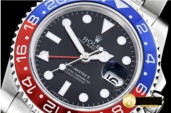 ROLEX BP Factory Best Edition Pepsi GMT with Asia 3186 Clone modified with decorated rotor, bridges/plates