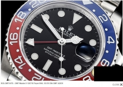 ROLEX ROLGMT147B - GMT Master II 126710 Pepsi 904L SS/SS Blk GMF A2836
