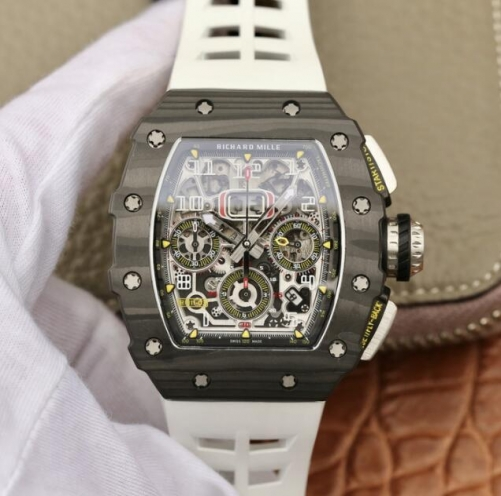 Richard Mille KV Factory RM011-03 Automatic Flyback Chronograph RM011-03 Flyback Chrono FC/RU (White) KVF A7750 Mod