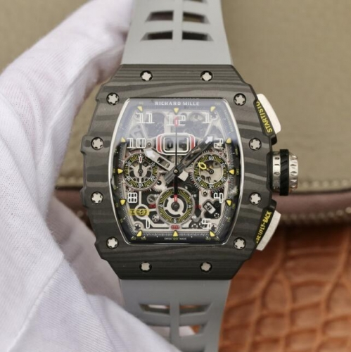 Richard Mille KV Factory RM011-03 Automatic Flyback Chronograph RM011-03 Flyback Chrono FC/RU (Grey) KVF A7750 Mod