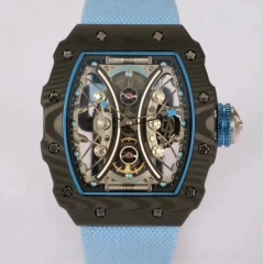 Richard Mille RM53-01 Tourbillon Pablo Mac Donough KV Forged Carbon Skeleton Blue Dial M9015