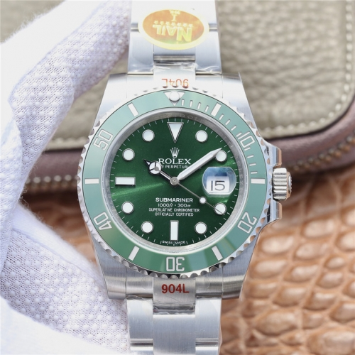 ROLEX  Submariner 116610LV 904L SS/SS Green NAIL Asia 3135