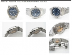 Royal Oak 15400 SS/SS Blue Z+F MY9015 Mod 3120 Z+F Factory AP Ref.15400 Royal Oak in Stainless Steel