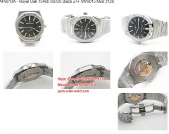 Z+F Factory AP Ref.15400 Royal Oak in Stainless Steel Royal Oak 15400 SS/SS Black Z+F MY9015 Mod 3120