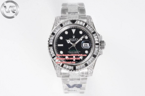 ROLEX VRF Factory V2 Asia 3186 GMT Master II Blk/Wh Hour Hand Adjustable Correct Hand Stack Movement 116759