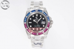 ROLEX VRF Factory V2 Asia 3186 GMT Master II Blu/Red Hour Hand Adjustable Correct Hand Stack Movement 116759