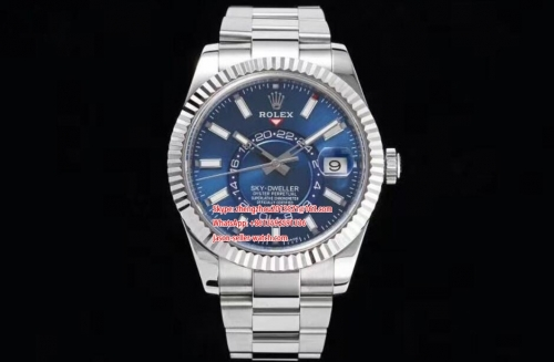 ROLEX Noob Factory Best Skydweller 1 : 1 Made to Date Bezel can be turned manually to adjust the month 326934 SS/SS Blue Noob Asian 23J