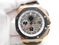 JF Factory AP Royal Oak Offshore 2019 Rose Gold  RG/RU Grey 44mm 18K Rose Gold Plated Solid Stainless Steel 316F