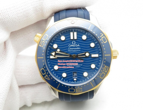 OMEGA  VS Factory 1 : 1 Basel 2019 Seamaster Diver Blue 300m Co-Axial 300m 2019 RG/SS/RU Blue VSF Asia 8800