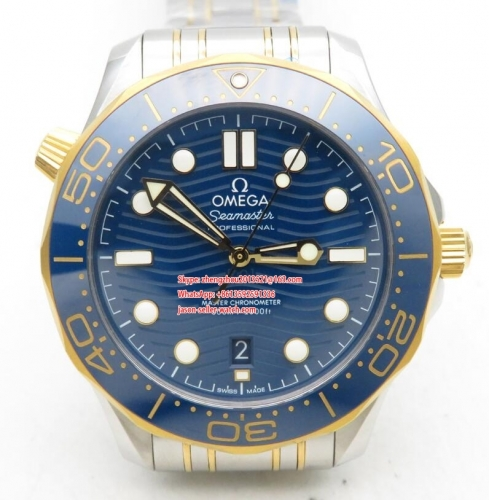 OMEGA VS Factory 1 : 1 Basel 2019 Seamaster Diver Blue 300m Co-Axial 300m 2019 RG/SS Blue VSF Asia 8800
