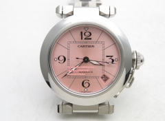 Pasha Ladies SS/SS Pink/Num V9F ETA 2892 V9F Factory Cartier Pasha Ladies Made 1:1 like the Genuine