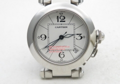 Pasha Ladies SS/SS White/Num V9F ETA 2892 V9F Factory Cartier Pasha Ladies Made 1:1 like the Genuine