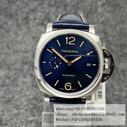 PANERAI VS Factory PAM927 Luminor Due 42 Super Clone XXXIV Case construction 1:1 as per Genuine PAM927 Luminor Due 42mm SS/LE Blue VSF Asia 9015
