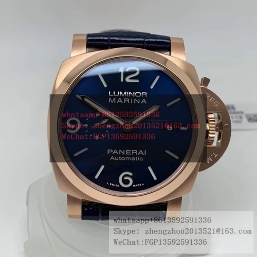 PANERAI VS Factory PAM 1112 Luminor Marina Panerai Goldtech Case construction 1:1 as per Genuine PAM1112 Lum. Marina 44mm RG/LE Blue VSF P9010