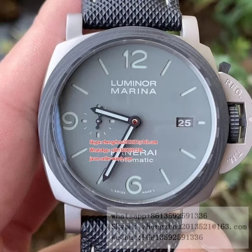 PANERAI VS Factory PAM1662 Luminor Marina Automatic 44mm Case construction 1:1 as per Genuine PAM1662 Lum. Marina Auto 44mm Grey TI/FC/NY VSF P9010