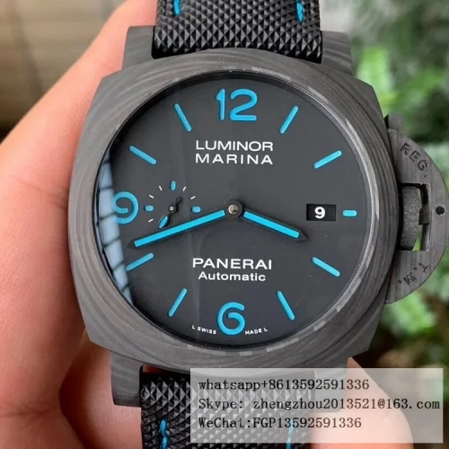 PANERAI VS Factory PAM1661 Luminor Carbotech Automatic 44mm Case construction 1:1 as per Genuine PAM 1661 Lum. Carbotech Auto 44mm FC/NY VSF P9010