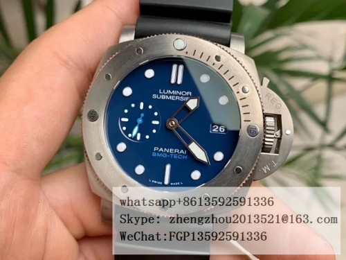 PANERAI  VS Factory Top Edition PAM692 Luminor Submersible 1950 BMG Tech PAM692 Lum. Sub. BMG Tech TI/RU Blue VSF P9000
