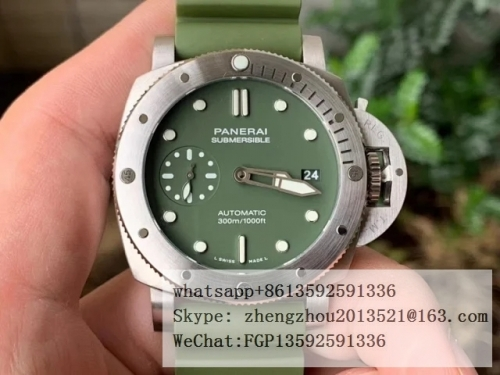 PANERAI VS Factory PAM1055 VS Factory Top Edition PAM1055 Luminor Submersible Verde Militare 42mm PAM1055 Lum Sub Verde Milit 42mm SS/RU Green VSF P90
