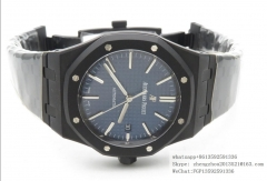 AP Audemars Piguet ZF Factory AP Ref.15400 Royal Oak 41mm DLC Black Coated Royal Oak 41mm 15400 DLC/DLC Blue ZF A3120 ETA