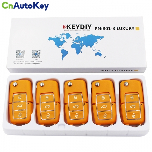 B01 KD900 KD900+ URG200 Remote Control 3 Button Key Luxury Style B01 Luxury Yellow