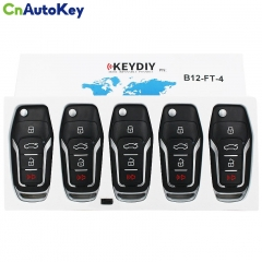 B12-4 KD900 URG200 3+1 Buttons Remote Control 4 Buttons Car Key Remote  F Style For KD900