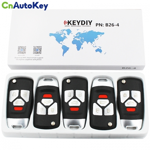 B26 3+1 B-Series Universal Remote Control for KD900 KD900+URG200 4 Button Key