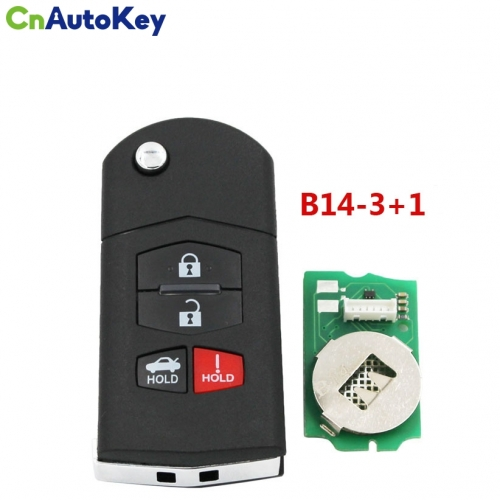 B14 3+1 KD900 URG200 Remote Control 3+1 Button M Key Style Universal Car Key Remote for KD900