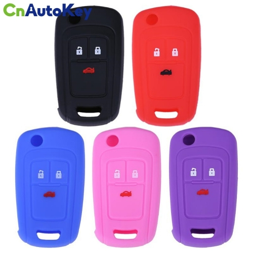 SCC013001 3 Buttons Silicone Key Cover Fob Case Car Key Fob Protect Case Cover for Buick Remote Flip Folding Car Key Shell High Quality