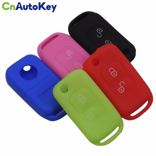 SCC002007 Car Shell Remote Silicone Key Fob Case 2 Buttons For Mercedes Benz SLK E113 A C E S W168 W202 W203