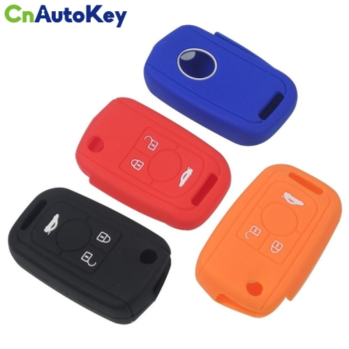 SCC013008 Rubber Skin Silicone Case for Buick Excelle Regal RS 3 Button Remote Flip Folding Key Cover Holder Protector