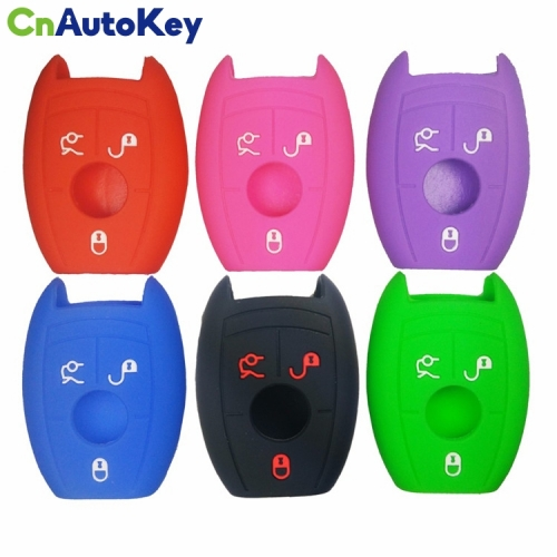 SCC002005 Silicone Car Key Case for Mercedes Benz W203 W210 W211 AMG W204 C E S CLS CLK CLA SLK SMART A C E S CLASS 3BTN