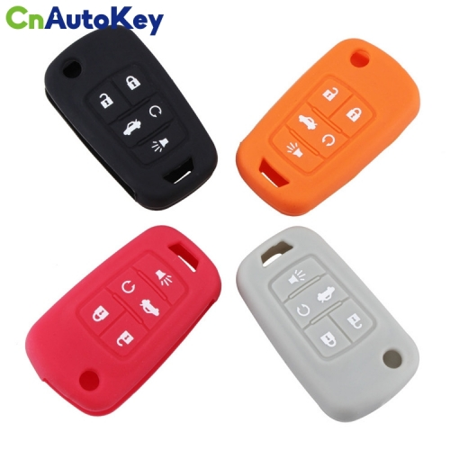 SCC013004 Car Key Silicone Covers Holder for Opel for Chevrolet for BUICK Lacrosse Flip Remote Key Case 5 Buttons