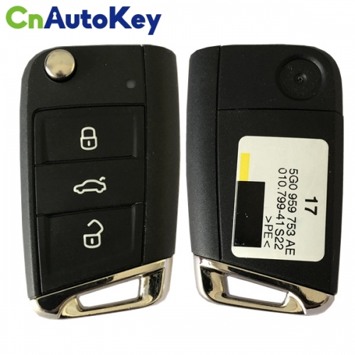 CN001088 ORIGINAL Flip Key for VW 3 Buttons  315MHz  MEGAMOS 88 AES MQB  Part No 5G0 959 752AE  KEYLESS GO